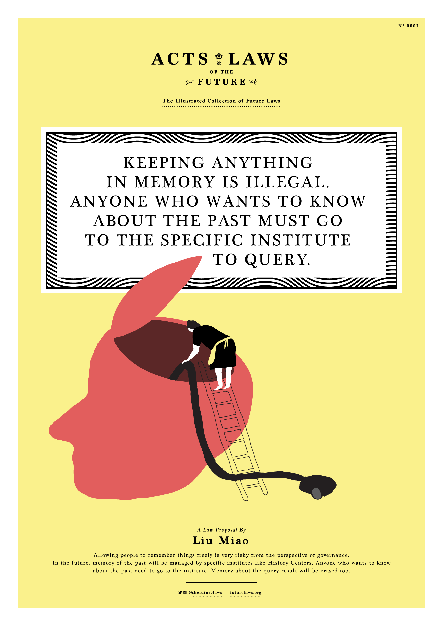Keeping anything in memory is illegal. Anyone who wants to know about the past must go to the specific institute to query.