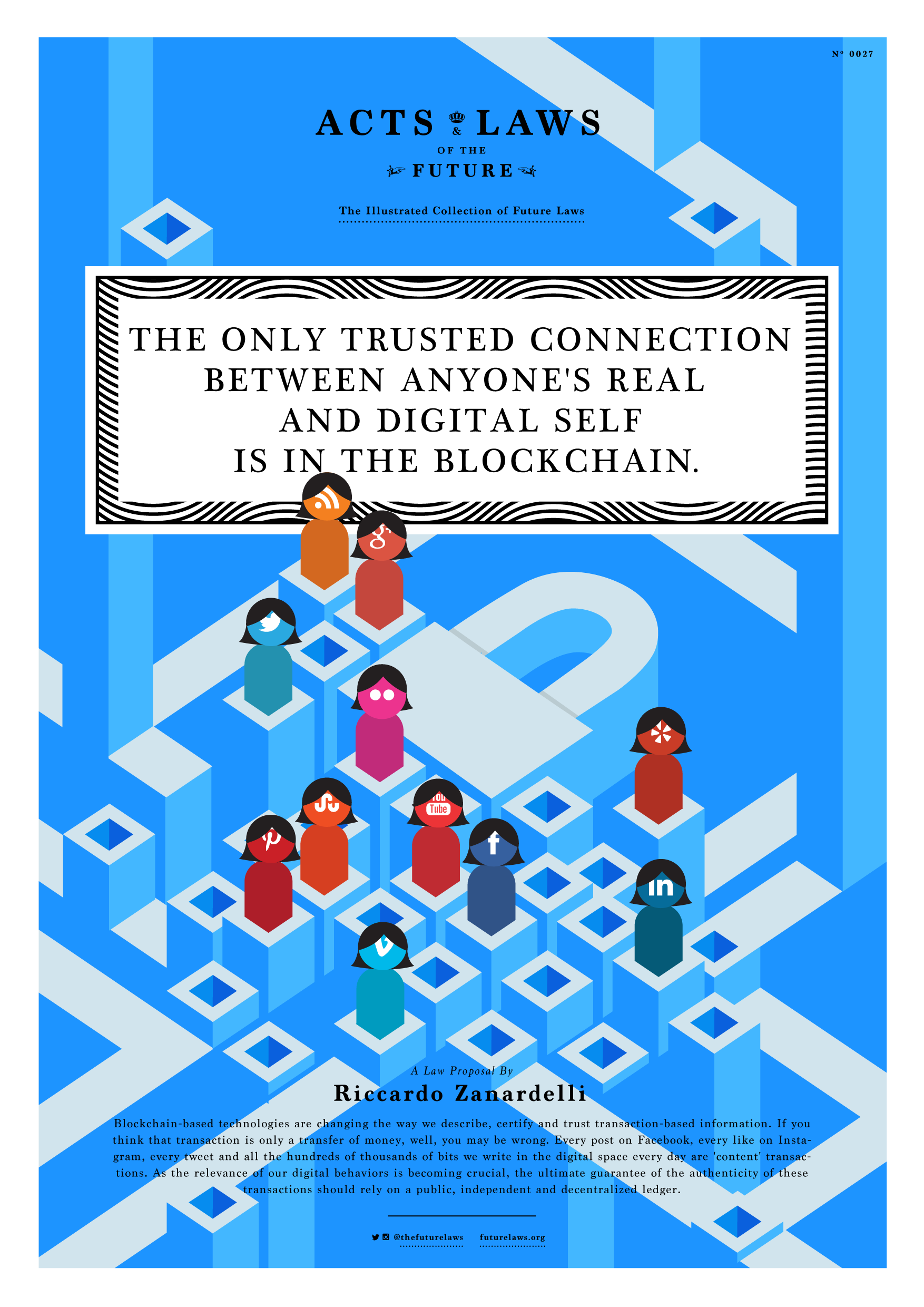 The only trusted connection  between anyone's real and digital self is in the blockchain.