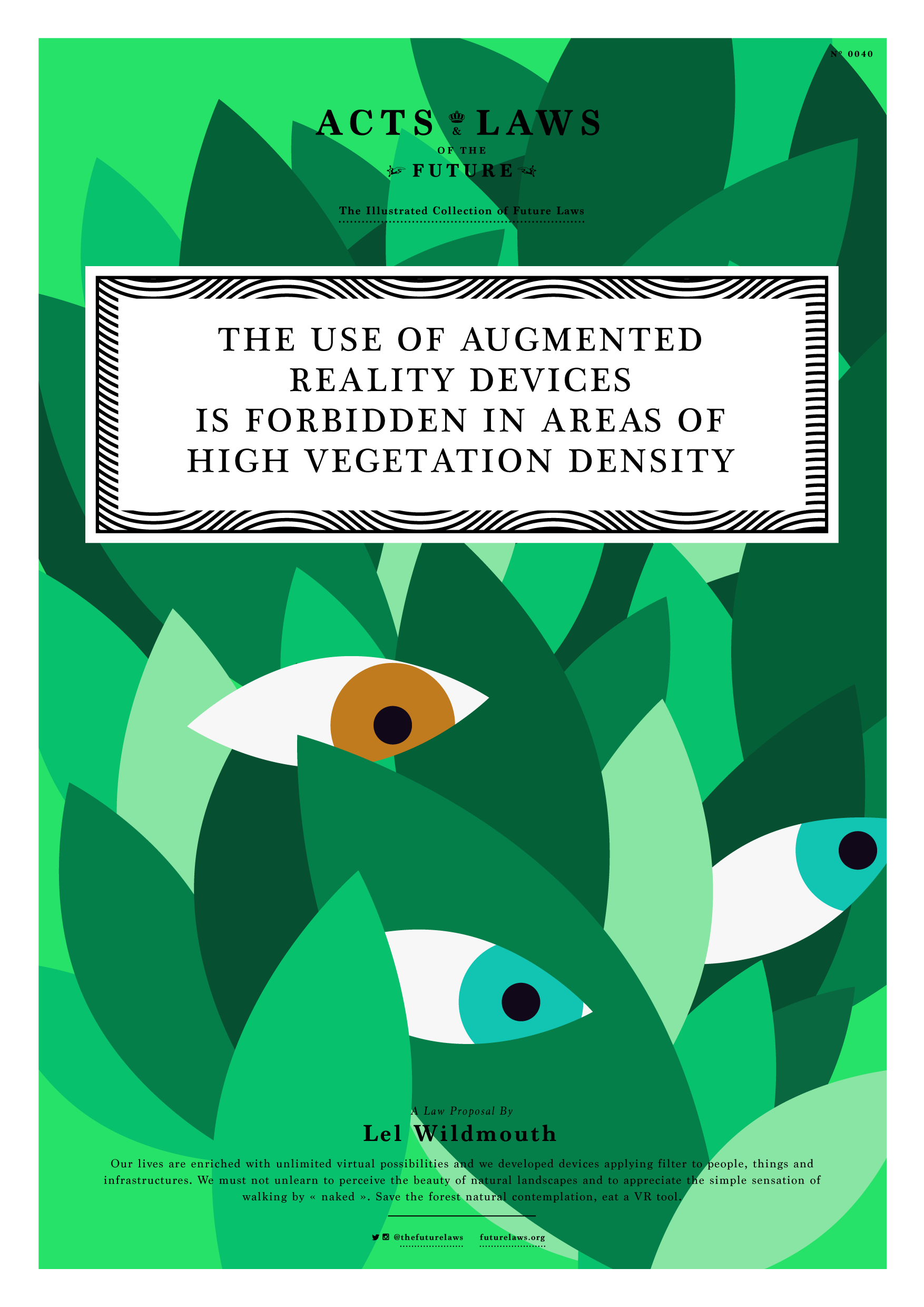 THE USE OF AUGMENTED REALITY DEVICES IS FORBIDDEN IN AREAS OF HIGH VEGETATION DENSITY